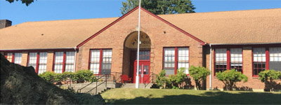 Photo of the exterior of the Mineral School