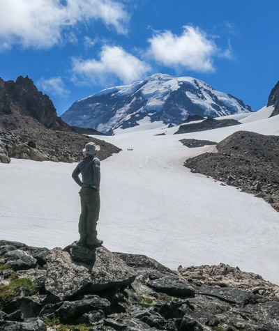 Hiking on Mt Rainier photo